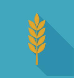 barley icon in flat long shadow design vector image
