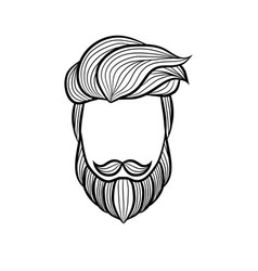 Beard man logo element vector