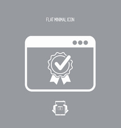 Best application flat icon vector