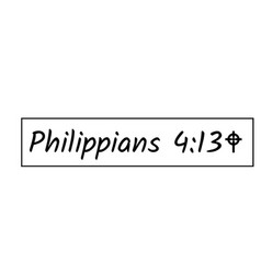 Bible verse design - philippians 413 vector