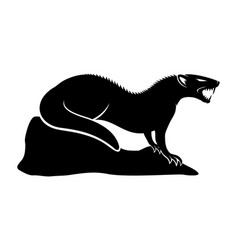 Black mongoose sign vector