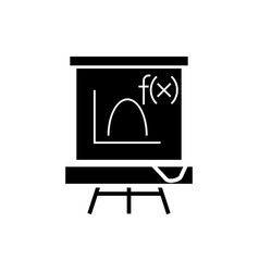 blackboard - mathematics icon vector image