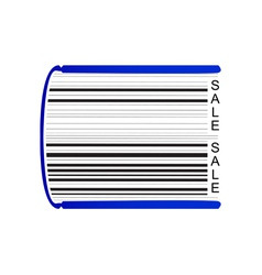 Book stylized as barcode vector