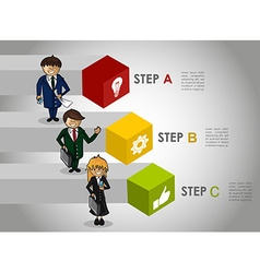 Business infographic strategy concept work vector image