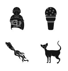 Care design cafe and other web icon in black vector