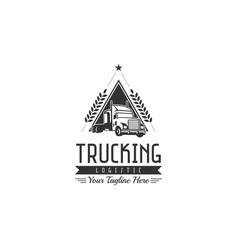 Classic heavy truck logo emblems and badges vector