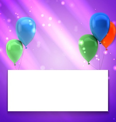 Colorful birthday background with place for text vector