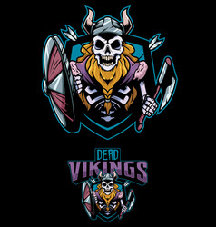 dead vikings mascot vector image