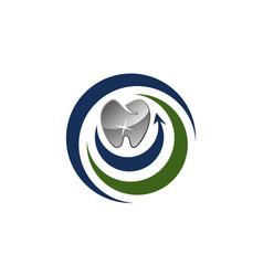dental care logo design template vector image