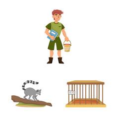Design zoo and park symbol set zoo vector
