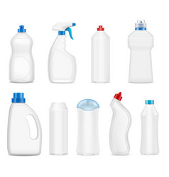 Detergent bottles set vector