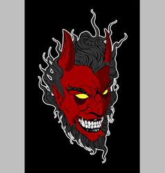 devil biker vector image
