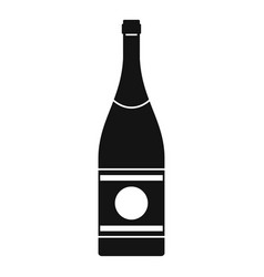 Elite champagne icon simple style vector