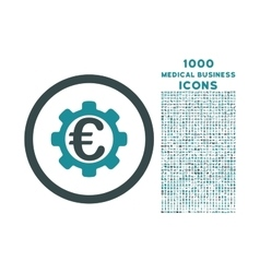 Euro Payment Options Rounded Icon with 1000 Bonus vector image
