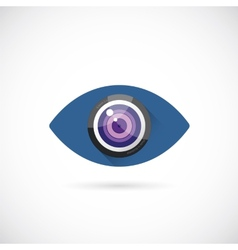 Eye Lens Abstract Concept Symbol Icon or Logo vector image