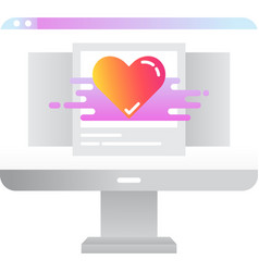 Favorite photo icon image in gallery symbol vector