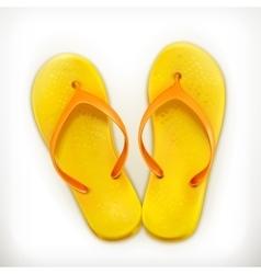 Flip flops icons vector