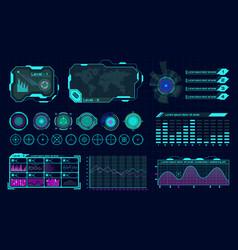 futuristic hologram ui infographic graph vector image