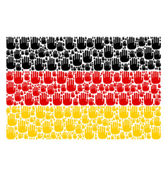german flag collage of stop hand icons vector image