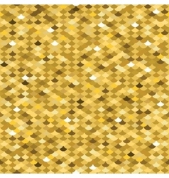 Golden squama seamless pattern vector image