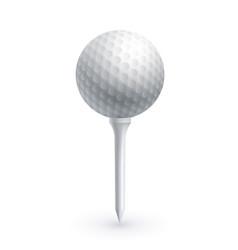 golf ball on a golf tee vector image