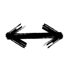 hand drawn brush arrow vector image