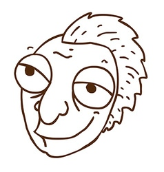 Hand Drawn Cartoon Man with a Mohawk vector