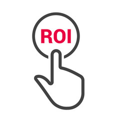 hand presses the button with text roi vector image