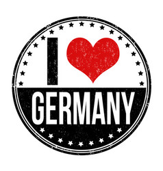 I love germany stamp vector