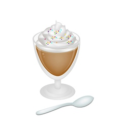 Iced Coffee with Whipped Cream and Sprinkles vector image