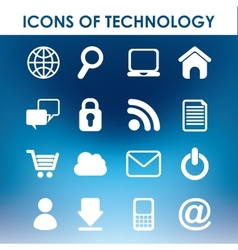 icons of technology vector image