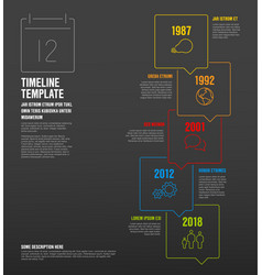 Infographic vertical timeline template made from vector