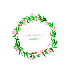 Invitation flora and card vector