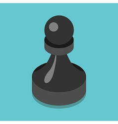 Isometric black pawn vector