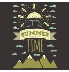 it is summer time typographics print designs vector image