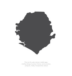map sierra leone isolated vector image