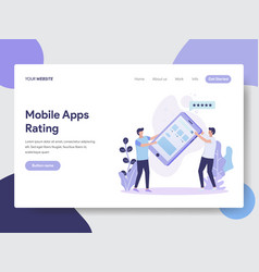 mobile apps rating vector image