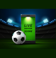 mobile football online vector image