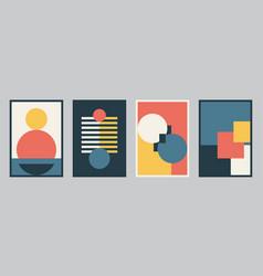 Modern bauhaus design set background vector
