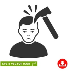 Murder With Hammer EPS Icon vector image