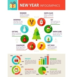 New Year Infographics vector image