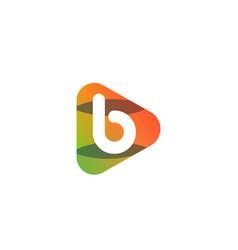 Orange color play b letter entertainment concept vector