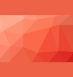 orange polygonal which consist of triangles vector image