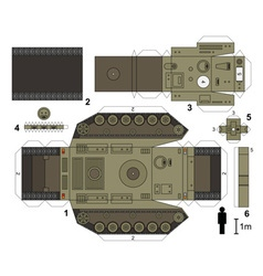 Paper model a heavy tank vector
