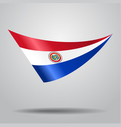 Paraguayan flag background vector