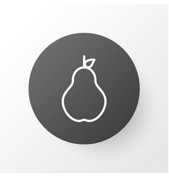Pear icon symbol premium quality isolated duchess vector