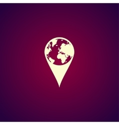 Pictograph of globe Map pointer vector image