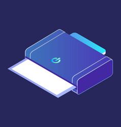 Printer or copy machine 3d smart home device vector