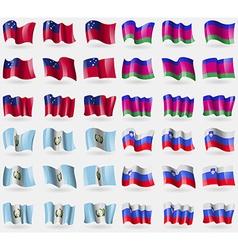 Samoa Kuban Republic Guatemala Slovenia Set of 36 vector