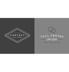 Set of Contact us Service Elements and Assistance vector image